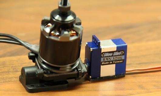 Tricopter yaw mechanism