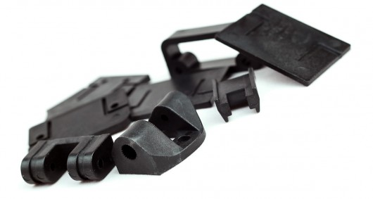 Injection moulded tricopter pieces